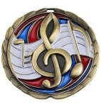 CEM Medal -Music  Color Epoxy Medallions