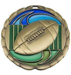 CEM Medal -Football  Color Epoxy Medallions