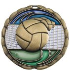 CEM Medal -Volleyball  Color Epoxy Medallions