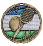 CEM Medal -Tennis Color Epoxy Medallions