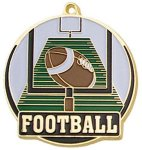 High Tech Medal -Football Color-Graph Medallions