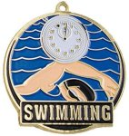 High Tech Medal -Swimming  Color-Graph Medallions