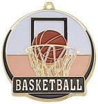 High Tech Medal -Basketball  Color-Graph Medallions