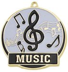 High Tech Medal -Music Color-Graph Medallions