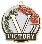 High Tech Medal -Victory  Color-Graph Medallions
