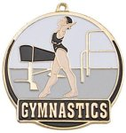 High Tech Medal -Gymnastics Female Color-Graph Medallions
