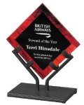 Acrylic Art Galaxy Award - Red Colored Acrylic Awards
