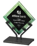 Acrylic Art Galaxy Award - Green Colored Acrylic Awards