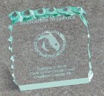 Paper Weight - Cracked Ice Colored Acrylic Awards