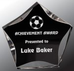 Black/Clear Luminary Star Acrylic Award Colored Acrylic Awards