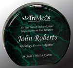 Green Round Circle Acrylic Award Colored Acrylic Awards