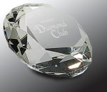 Crystal Diamond Paper Weight Crystal Awards