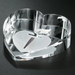 Slant Heart Paperweight Crystal Paperweights