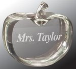Clear Crystal Apple Crystal Paperweights
