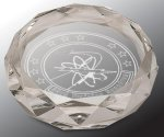 Faceted Round Crystal Paper Weight Crystal Paperweights