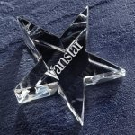 Optic Star Paper Weight Crystal Paperweights