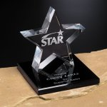 Tapered Star on Base Crystal Stars