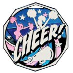 DCM Medal -Cheerleader  Decagon Colored Medallions