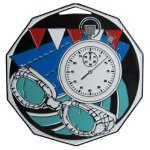 DCM Medal -Swimming  Decagon Colored Medallions