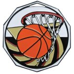 DCM Medal -Basketball Decagon Colored Medallions