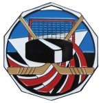 DCM Medal -Hockey Decagon Colored Medallions