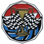 DCM Medal -Racing Flag  Decagon Colored Medallions