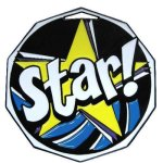 DCM Medal -Star  Decagon Colored Medallions