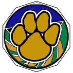 DCM Medal -Paw  Decagon Colored Medallions