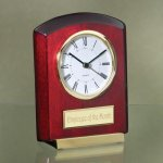Tilted Piano Finish Desk Clocks