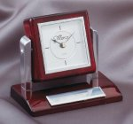 Tilting Rosewood Desk Clock Desk Clocks