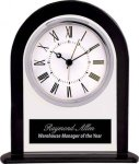 Black/Clear Glass Clock Desk Clocks
