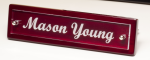 Rosewood Piano Finish Nameplate with Acrylic Engraving Plate Desk Items
