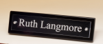 Black-Piano Finish Nameplate with Acrylic Engraving Plate Desk Items