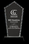 Diamond Facet Glass with Base Award Diamond Awards