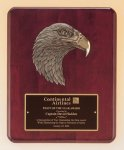 Antique Eagle Rosewood Piano Finish Plaque Eagle Plaques