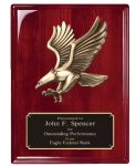Rosewood Piano  Finish Plaque Eagle Plaques