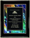 Black Piano Finish Plaque - Elegant Face Plate Employee Awards