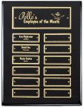 Ebony Finish Perpetual Plaque Employee Awards