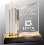 Star Column with Acrylic Plaque Employee Awards