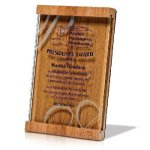 Natural Brown Bamboo / Jade Glass Employee Awards