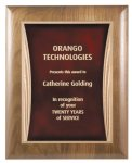 Solid Walnut Plaque with Elliptical Edge Employee Awards