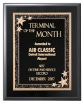 Matte Black Finish Plaque - Elegant Face Plate Employee Awards
