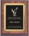 Cherry Finish Plaque - Elegant Face Plate Employee Awards