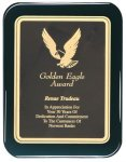 Black Piano Finish Rounded Plaque - Elegant Face Plate Employee Awards