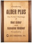 Alder and Walnut Plaque Employee Awards