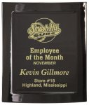 Eclipse Black Piano Finish Plaque - Elegant Face Plate Employee Awards
