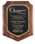 American Genuine Walnut Plaque with Satin Finish FiveStar Awards & Engraving Web Store