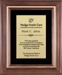 Genuine Walnut Frame with a Satin Finish Frame Plaques