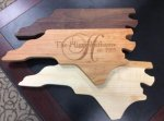 NC State Shaped Cutting Boards - American Made Gifts