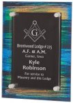 Painted Acrylic Stand-Off Plaque Award Glass Plaques